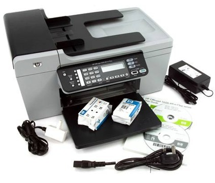 other printers hp officejet 5610 all in one fax scanner coper printer craazzyyy. Black Bedroom Furniture Sets. Home Design Ideas