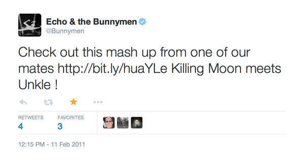 celebrity endorsement - echo & the bunnymen